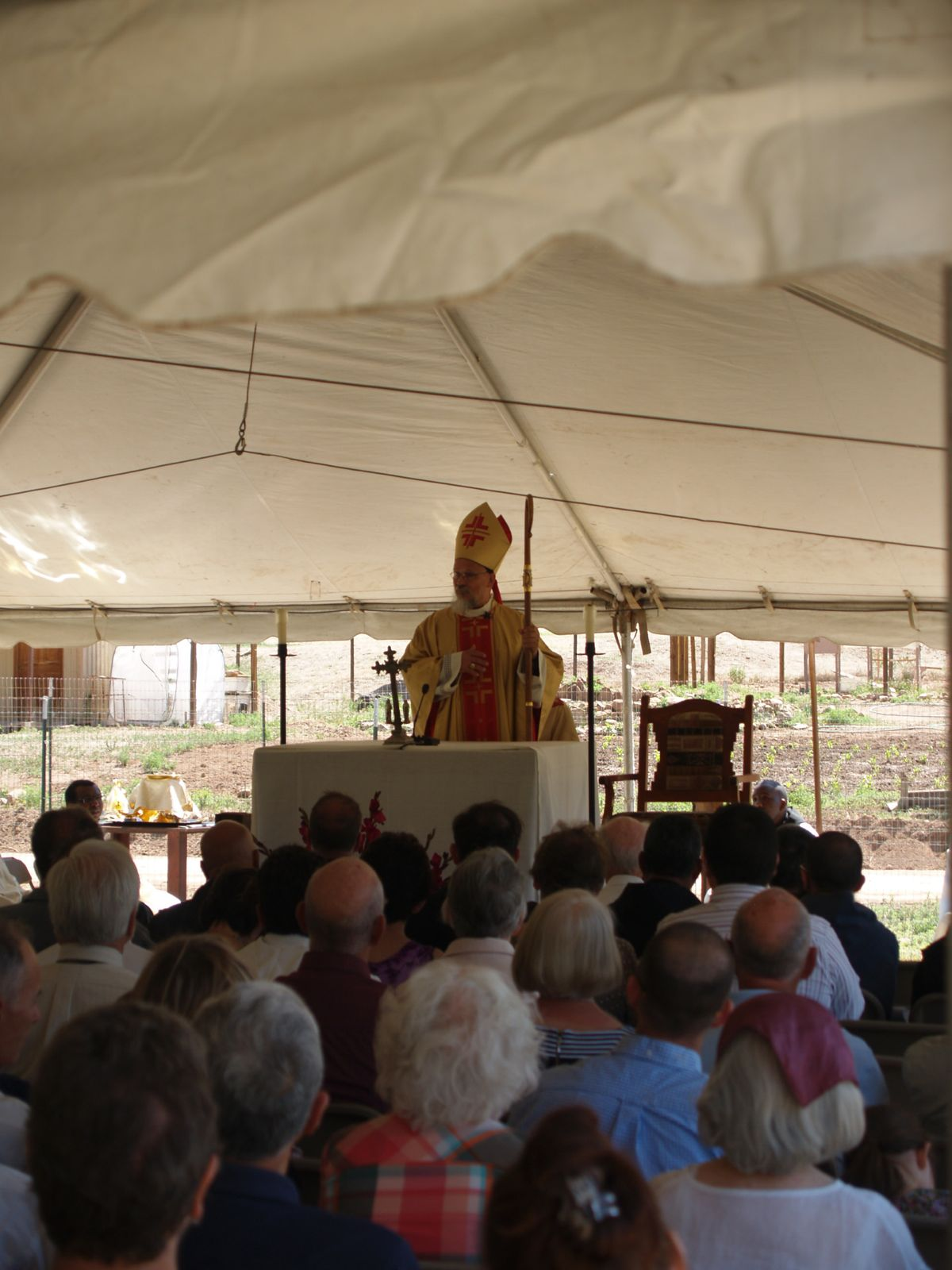 Abbot Philip preaching at the 50th anniversary Mass of the Monastery