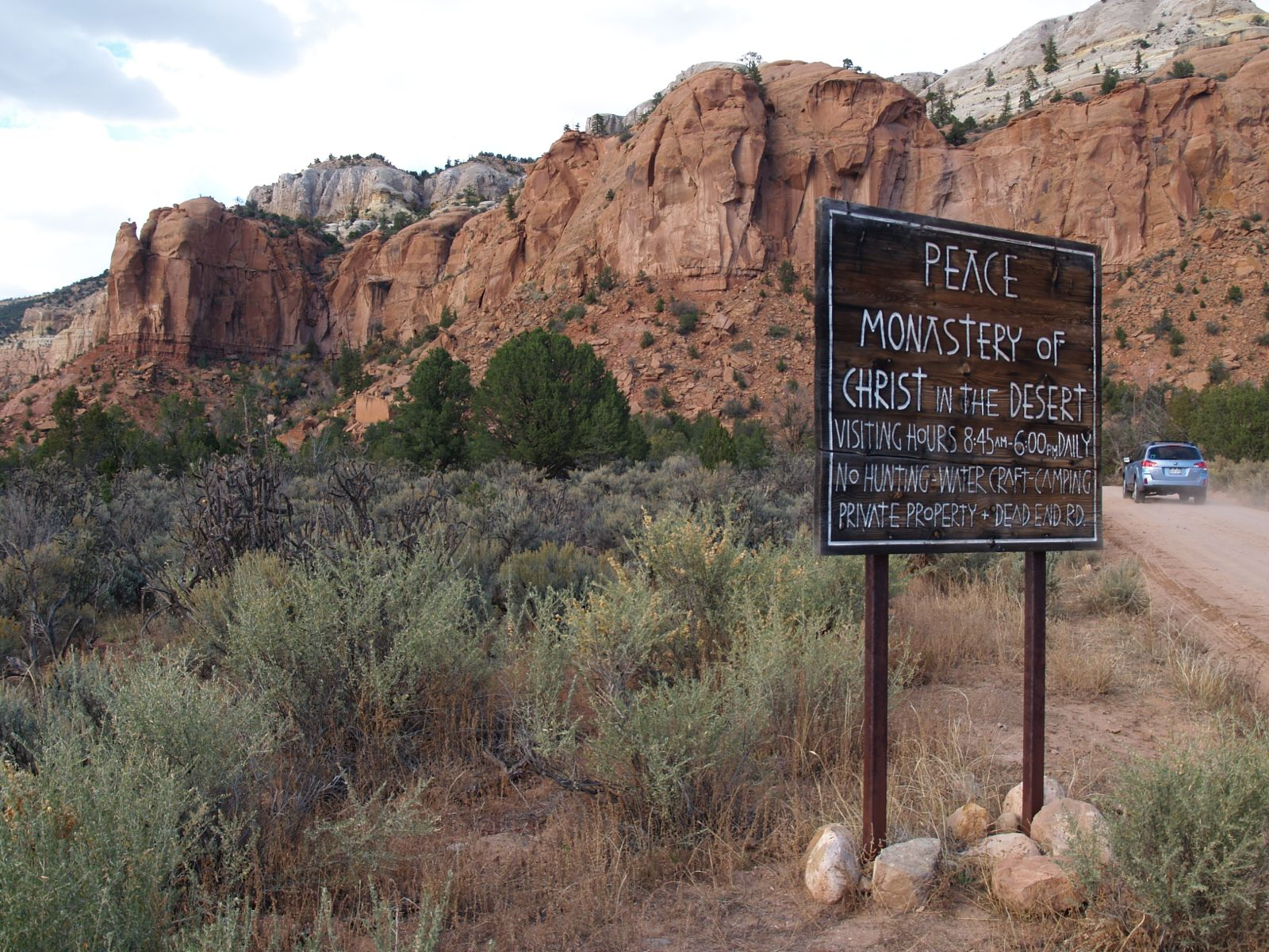 The monastery is located at the end of a glorious 13 mile drive through the Chama River Canyon.
