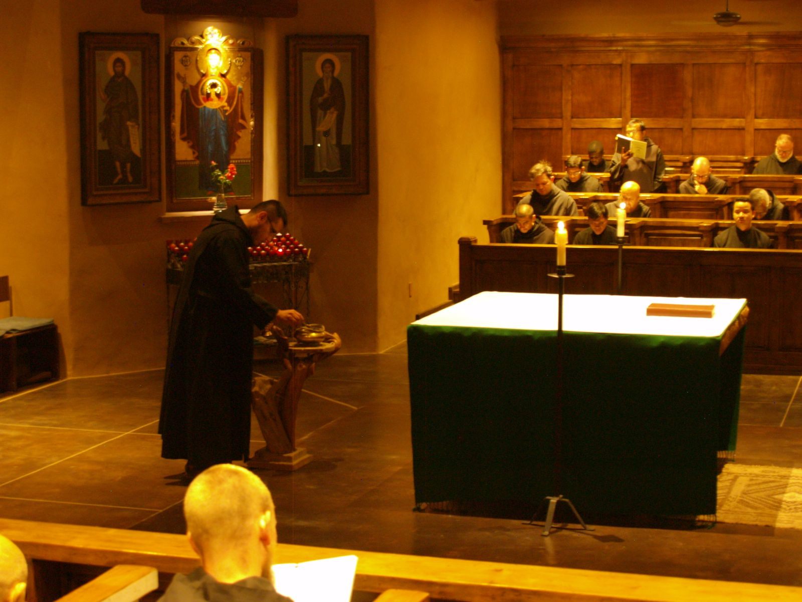 Monastic choir at a Sunday Lauds