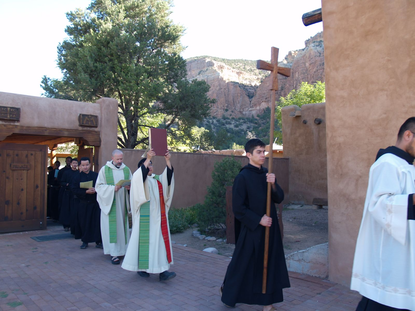Sunday Mass procession