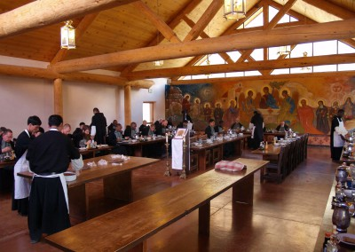 The main meal in the refectory.