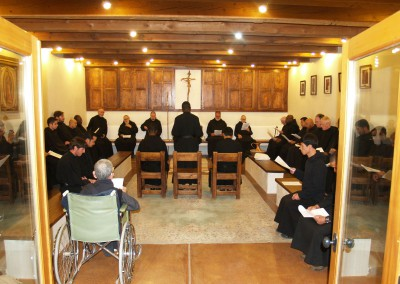 Reception of Novices in Chapter.