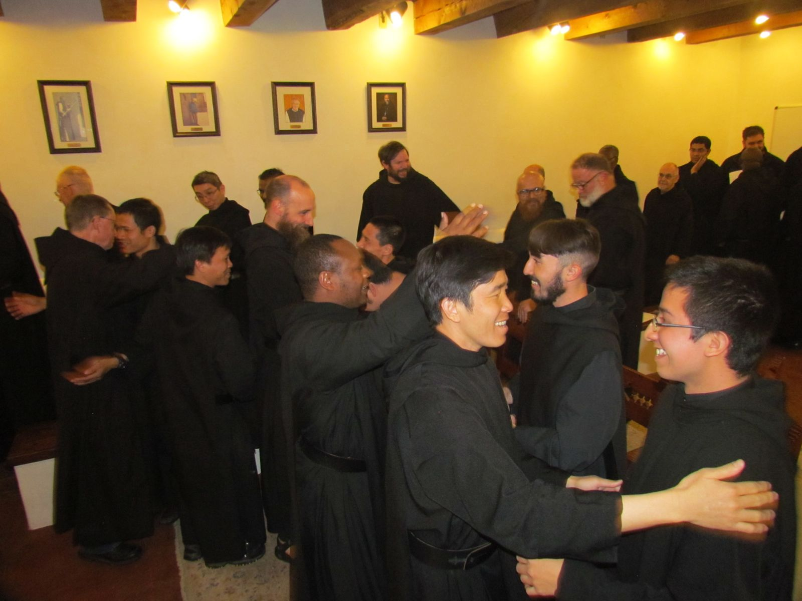 Exchanging the Sign of Peace after postulants have become novices
