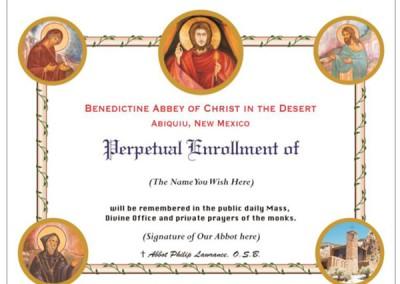 Perpetual Enrollment Certificate